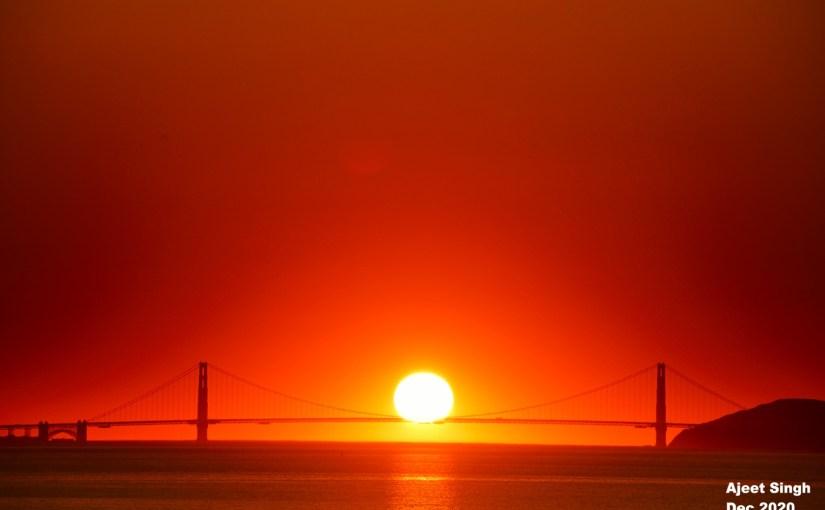 Cradling sun