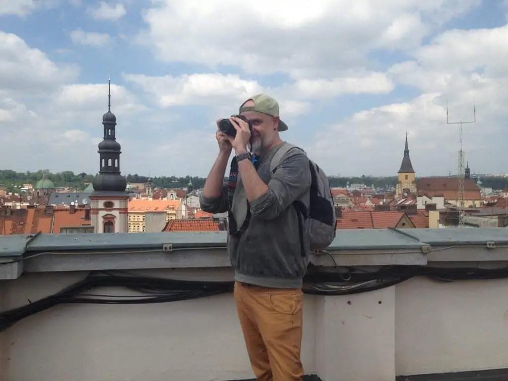 Andreas auf dem Donau Haus