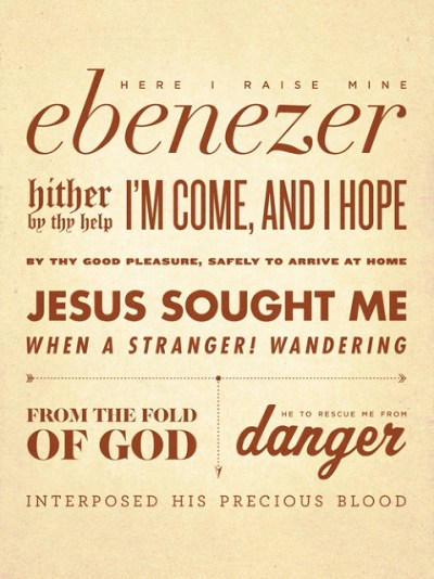Come Thou Fount Here I raise mine Ebenezer