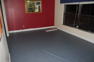 the living room makeover - moisture barrier2