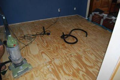 game room subfloor