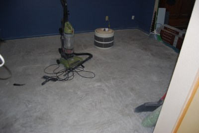game room floor sand