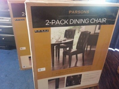 leather parsons chairs from sams club