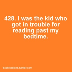 Kid reading after bedtime