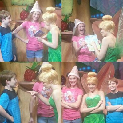 PinkGirl and JackSnoopyScuttle with Tinkerbell