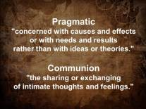 Pragmatic Communion