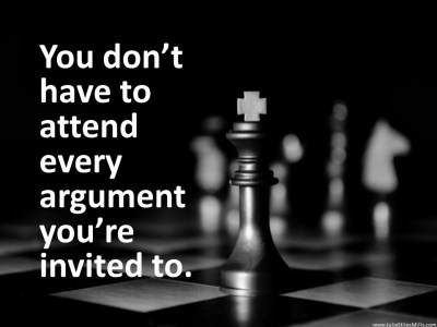 Dont Have to Attend Every Argument