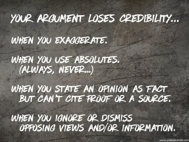 LoseCredibility