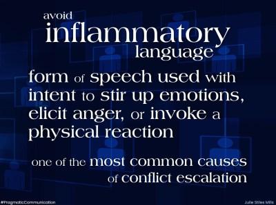 inflammatory language and echo chambers