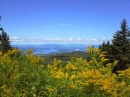 Gunstock Ski Trail. Lake Winnipesaukee and Bear Island