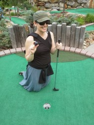 I got another hole in one! And we ended the game in a tie!