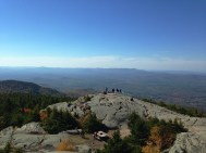 A view of the true peak from the fire tower.