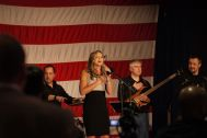 Scott Brown's daughter sang some songs.