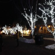 It was so sparkly in Aspen at night.