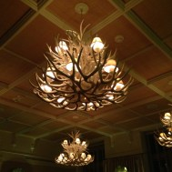 Chandeliers at the Hotel Jerome.