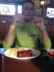 Derek got ribs.