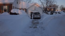 The snow banks are getting pretty intense.