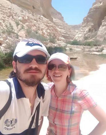 Ciprian și Iulia Dobre-Trifan în Deșertul Negev