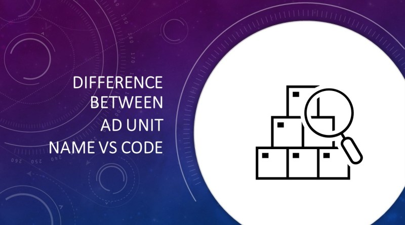 Difference Between Ad unit Name vs Code.