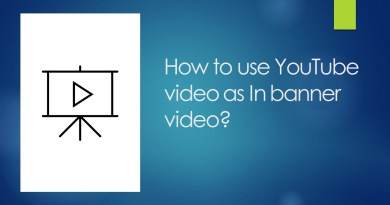 How to use YouTube video as In banner video?