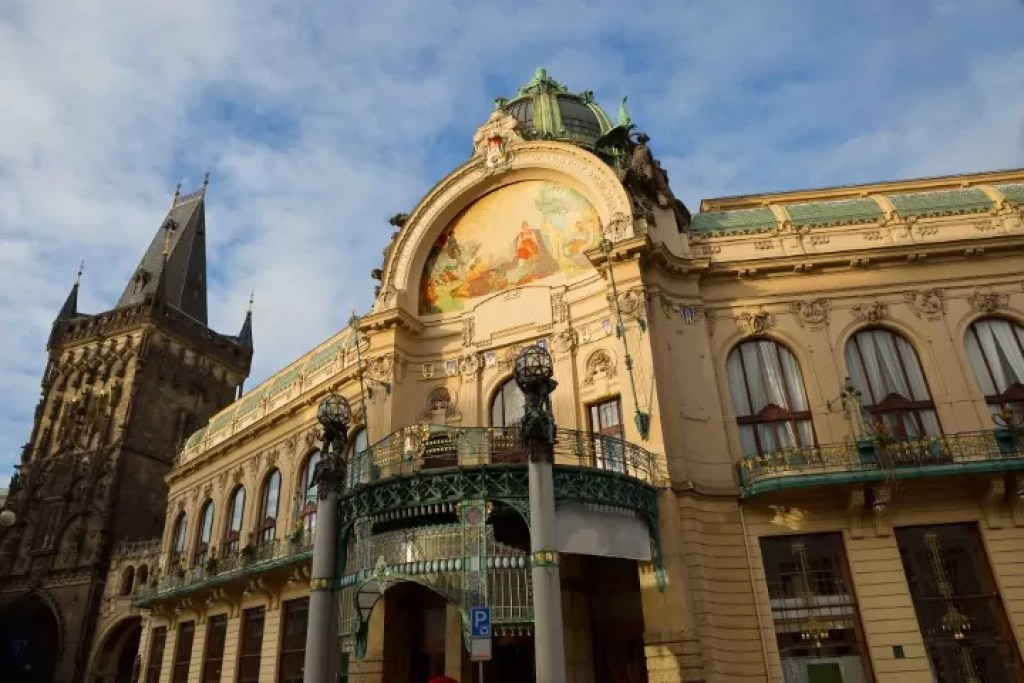 Municipal House is one of the most famous buildings in Prague