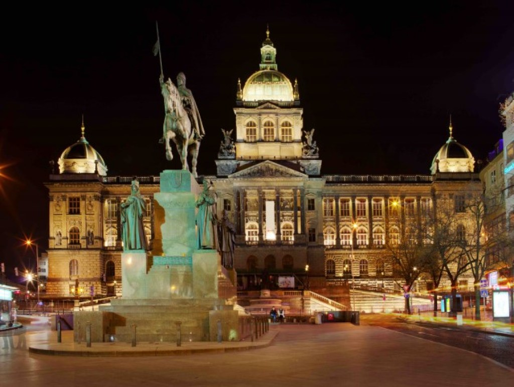 National Museum at night