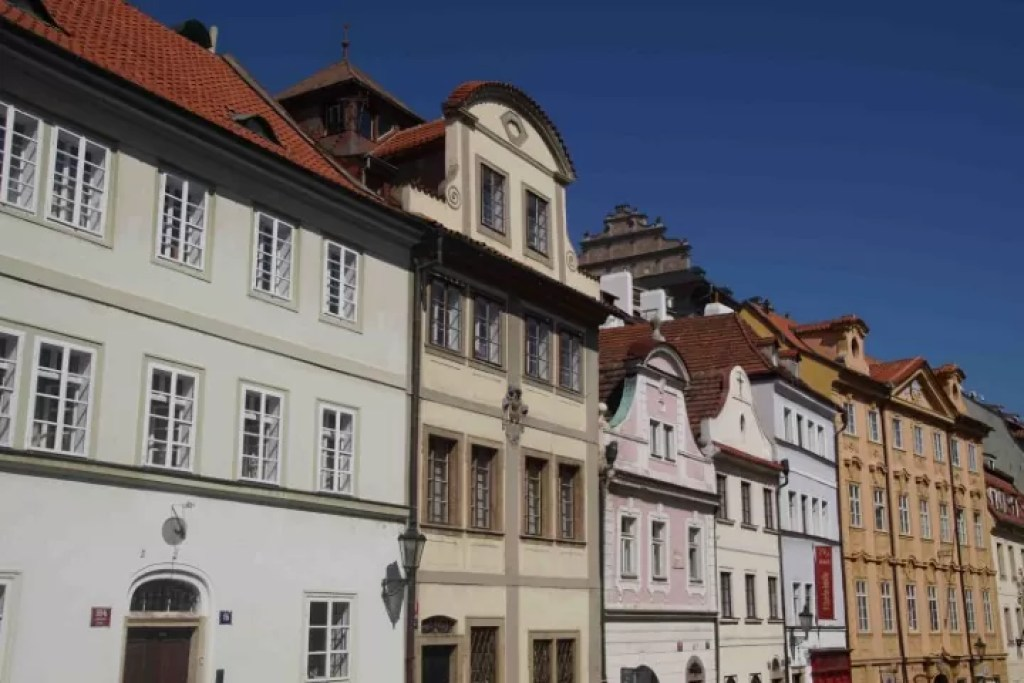 Charming houses in Nerudova Street