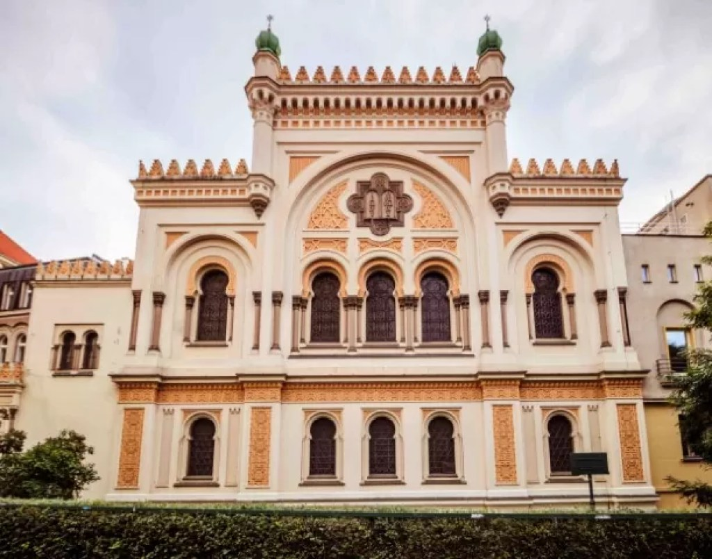 The beautiful synagogue was built in 1868 in Moorish style by Vojtěch Ignác Ullmann and Josef Niklas
