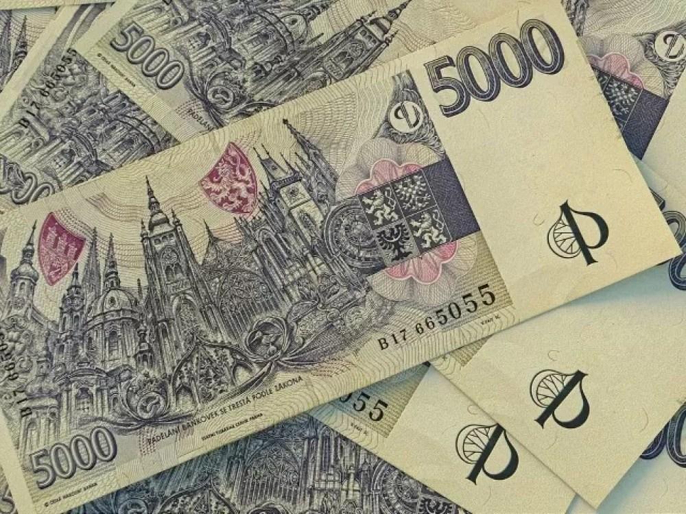 Chech currency. Money of Czesh Republic, financial background. CZK. Macro shot
