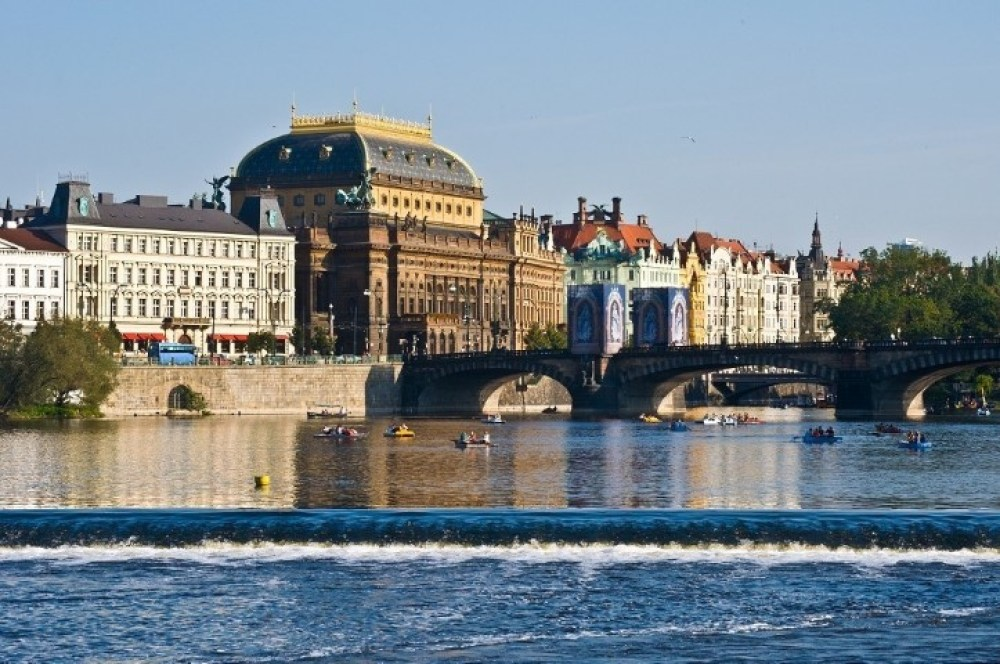 view of the old National theater in Prague