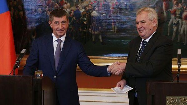 Andrej Babis Milos Zeman