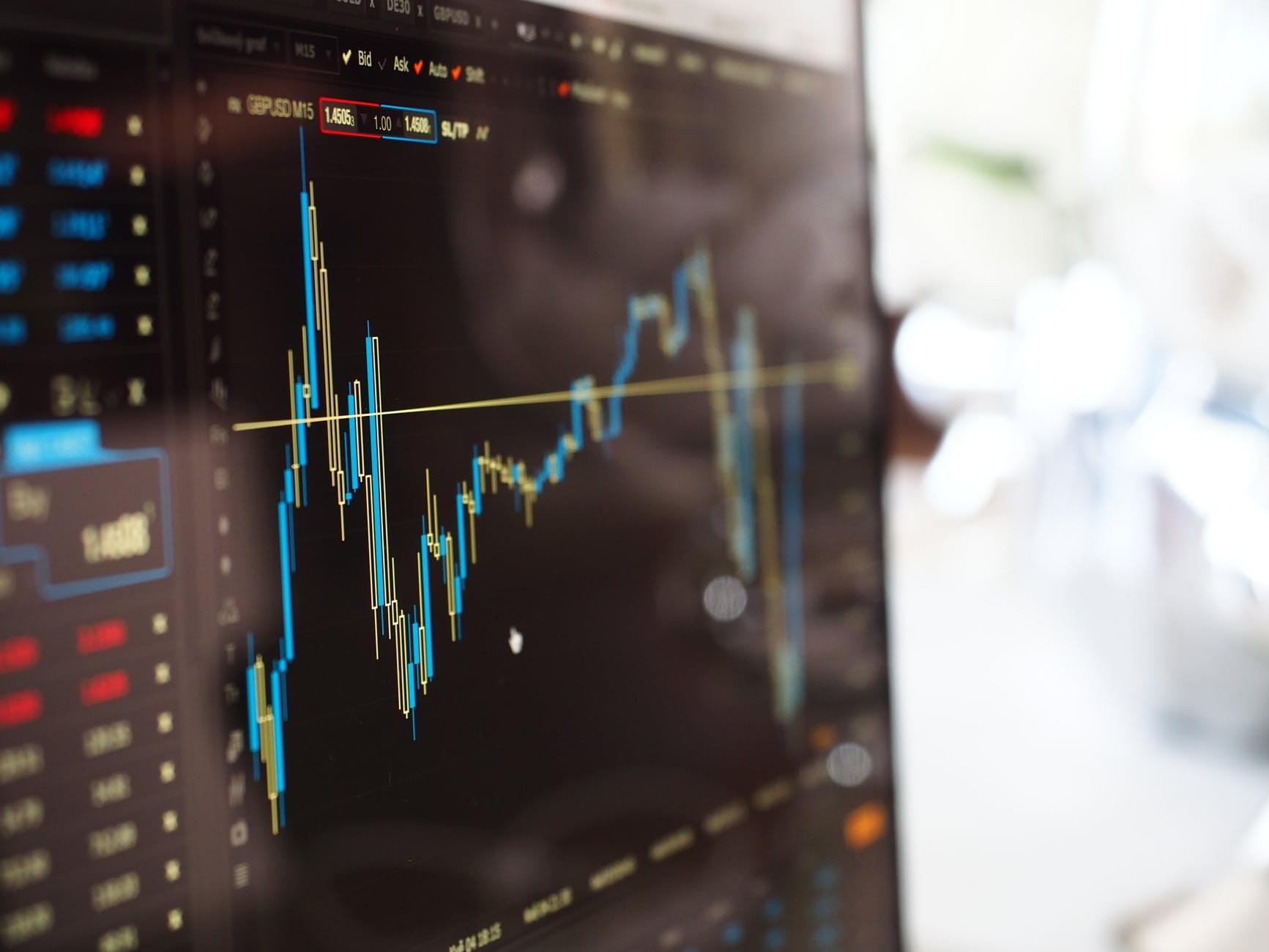 Financial Chart on computer screen