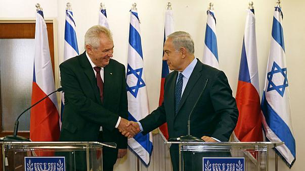 MIlos Zeman Benjamin Netanyahu