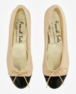 Two-toned ballerinas from French Sole