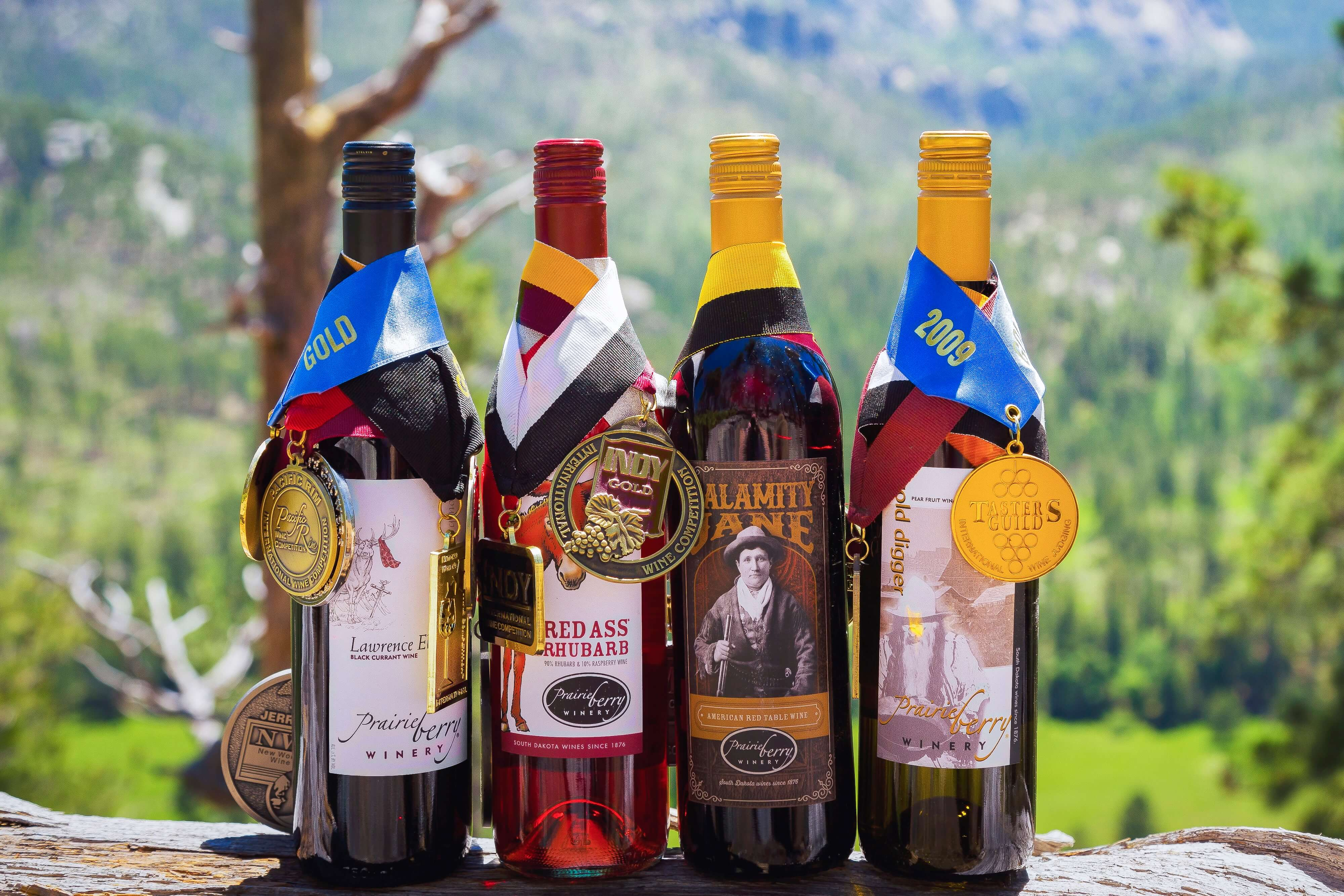 Since it began entering competitions in 2001, Prairie Berry Winery has earned more than 1,000 international wine awards. Some top winners include Lawrence Elk, Red Ass Rhubarb, Calamity Jane, and Gold Digger.