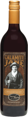 A bottle of Calamity Jane wine