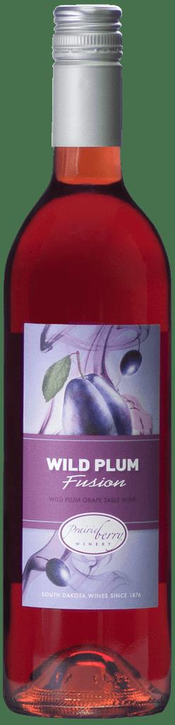 A bottle of Wild Plum Fusion wine.