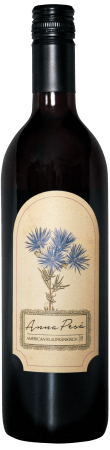 A bottle of Anna Pesä Blaufränkisch 2017, a dry red wine made in Hill City, South Dakota