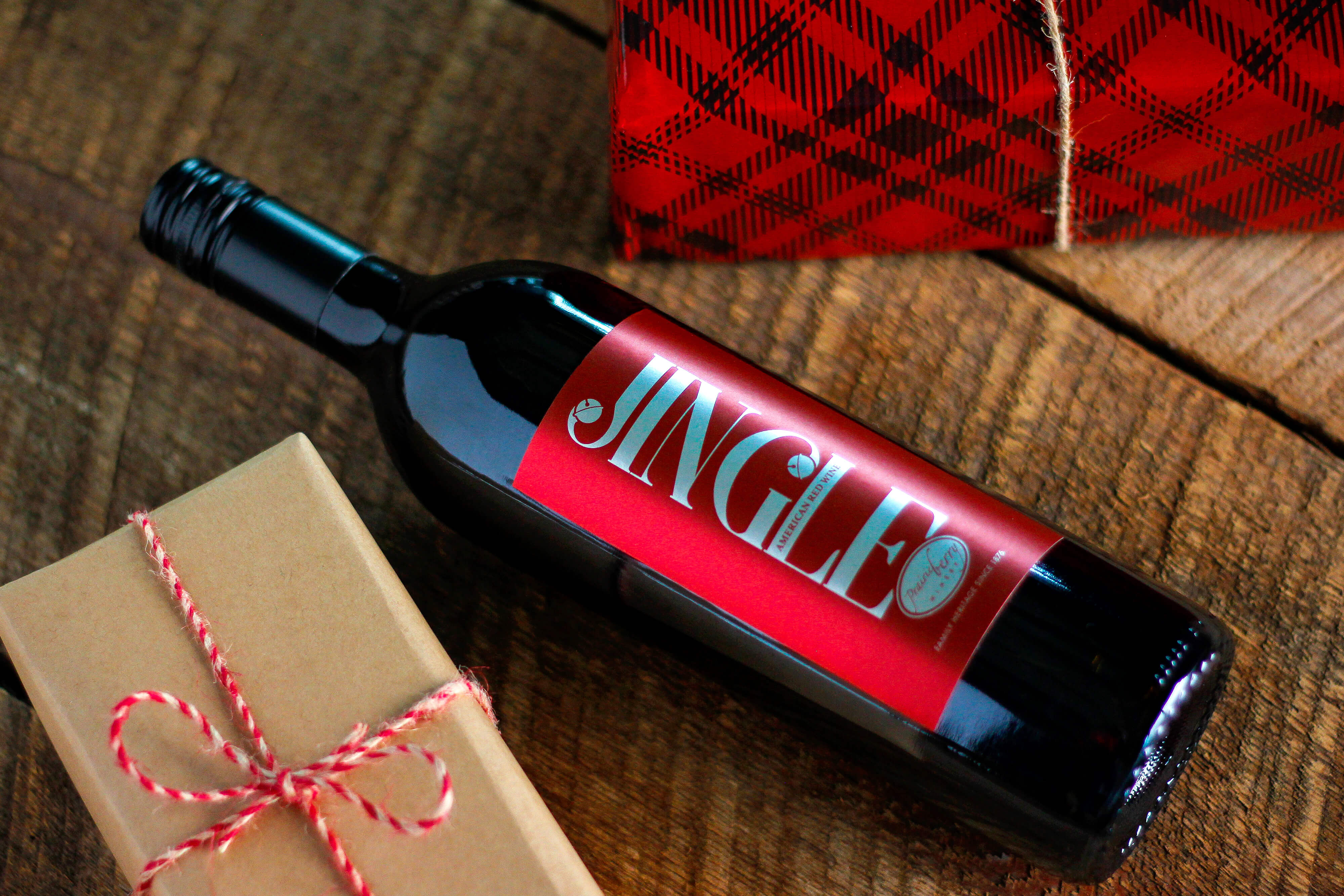 Jingle is a dry red blend made by Prairie Berry Winery in Hill City, South Dakota.