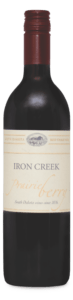 Iron Creek is a dry red blend made by Prairie Berry Winery in Hill City, South Dakota