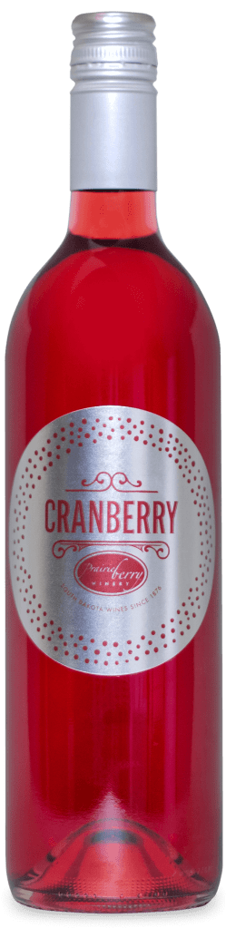A bottle of Cranberry wine, a seasonal favorite from Prairie Berry Winery in Hill City, South Dakota.