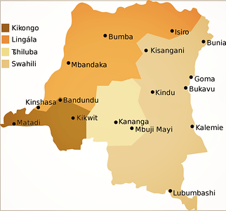 Major Bantu Languages in the DRC
