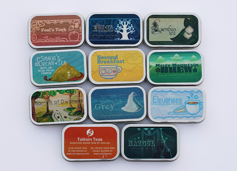 Tolkien Teas; From Andagio teas.  All delicious!  I kept changing my mind as to which is my favorite!