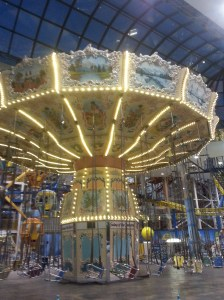 The swing ride, one of the many fun things to do at West Edmonton Mall's Galaxyland
