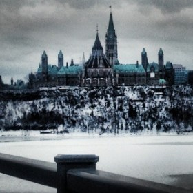 Parliament from the Quebec side
