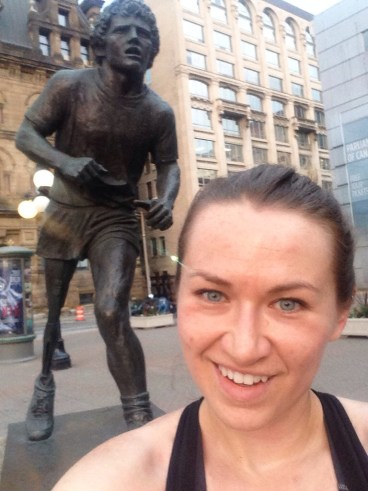 My routine pilgramage to the Terry Fox Statue