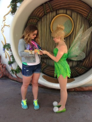 Showing my wares to TInk