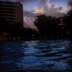 Monday night swim sandwiched by two thunderstorms