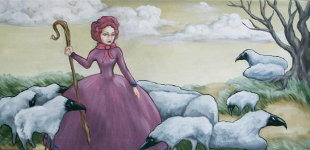 Folksy Plague Sheep