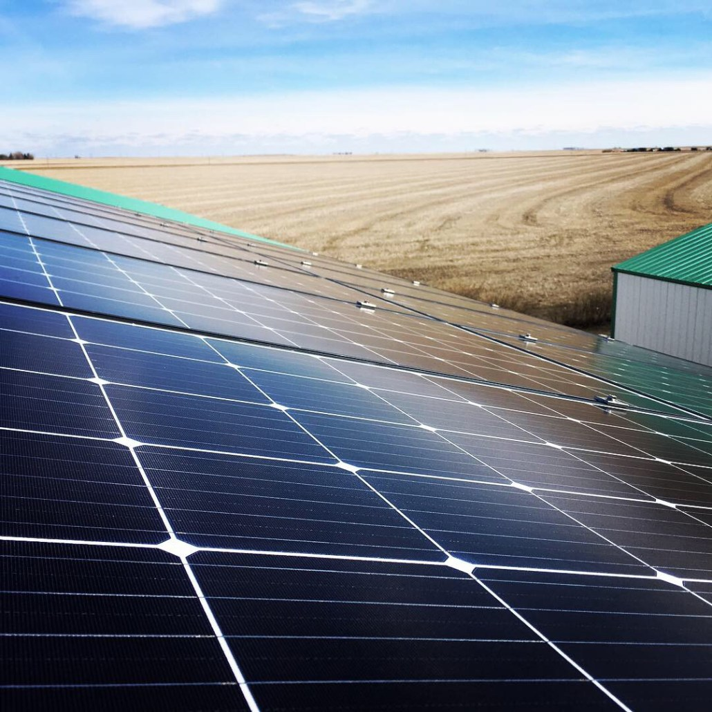 Prairie Sun Solar install on a farm